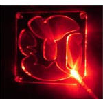 "Sunbeam grille à LED rouge ""Unreal Tournament"" pour ventilateur 80 mm"