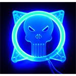 Grille éclairée U.V. Monstre pour ventilateur 80 mm (bleu)