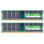 Kit Dual Channel RAM DDR2 PC4200 - VS2GBKIT533D2 (garantie 10 ans par Corsair)