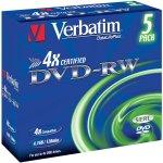 Verbatim DVD-RW 4.7 Go certifié 4x (pack de 5, boitier standard)