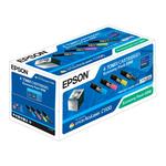 Epson pack de 4 toners: C13S050190 (Noir) + C13S050191 (Jaune) + C13S050192 (Magenta) + C13S050193 (Cyan)