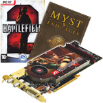 "ATI All-in-Wonder X1800 XL - 256 Mo (PAL/SECAM/DVBT) - PCI Express (ATI Radeon X1800 XL) + Jeux ""Battlefied 2"" et ""Myst V"""
