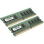 Kit Dual Channel RAM DDR2 PC5300 - CT2KIT12864AA667 (garantie 10 ans par Crucial)