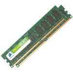 Kit Dual Channel RAM DDR2 PC5300 - VS2GBKIT667D2 (garantie 10 ans par Corsair)