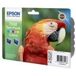 Epson T008 - Cartouche d'encre 5 couleurs - Pack de 2