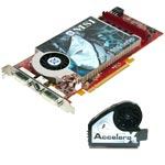 MSI RX1900GT-VT2D256E - 256 Mo TV-Out/Dual DVI VIVO - PCI Express + accelero X2