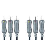 Banbridge Câble Audio/Vidéo 3x RCA Mâle/Mâle - 1,5m