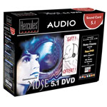 Hercules Gamesurround Muse 5.1 DVD + Microcasque offert (version Retail) - Bonne affaire (article utilisé, garantie 2 mois)