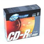 Tx CD-R 700 Mo Certifié 52x (pack de 10, boîtier slim)