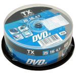 Tx DVD+R 4.7 Go Certifié16x (pack de 25, spindle)