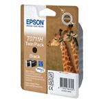 Epson T0711H (Noir) - Pack de 2 cartouches haute capacité