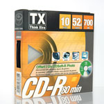 Tx CD-R 700 Mo Certifié 52x (pack de 10, spindle) + 1 CD Soft-R Photo offert
