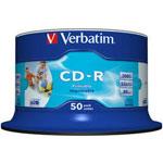 Verbatim CD-R 700 Mo certifié 52x imprimable (pack de 50, spindle)