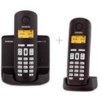 Siemens Gigaset AL145 Duo - Téléphone sans fil DECT avec répondeur intégré (coloris noir) (Version Française)