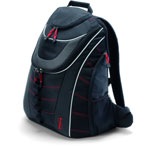 Dicota BacPac Xtrem - Sac à dos robuste avec coupe vent pour ordinateurs portables jusqu'à 15.4 pouces (coloris noir)