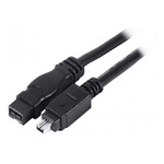 Câble FireWire 800 - 9 mâle / 4 mâle (1.8 mètre)