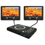 """SiGMATek PDX-1420 - Lecteur DVD portable 2x 7"""" compatible MPEG4 - Double écran - Lecteur SD et Port USB"""