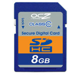 OCZ SDHC Class 6 - Secure Digital High Capacity 8 Go (garantie 10 ans par OCZ)