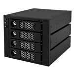 "ICY BOX IB-554SSK-B - Rack amovible pour 4 disques durs 3""1/2 Serial ATA dans 3 baies 5""1/4"