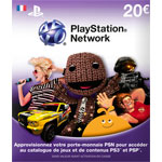 Sony Livecards PlayStation Network 20€ (PS4/PS3/PSP/PS Vita)