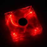 Xigmatek Crystal Series - Ventilateur à LED rouge 120 mm