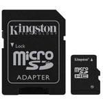 Kingston microSD 16 Go High Capacity Class 10 + adaptateur SDHC (garantie 10 ans par Kingston)