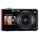 Samsung PL151 rouge / noir + Carte mémoire 4 Go   Etui - Appareil photo 12.4 MP - Zoom 5x - Vidéo HD - Double écran LCD