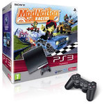Sony PlayStation 3 Slim 250 Go Pack ModNation Racers + 1 manette DualShock 3 à Moitié Prix