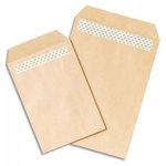 Boîte de 500 pochettes Kraft C5 autocollantes 90g