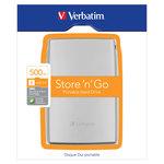 """Verbatim Disque dur externe Store 'n' Go 500 Go 2""""1/2 - Argent (USB 2.0)"""