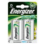 Pack de 2 piles rechargeables D (HR20) 2500 mAh