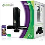Microsoft Xbox 360 Slim 4 Go Pack Kinect avec Capteur Kinect et Jeu Kinect Adventures