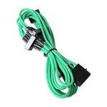 Câble d'alimentation gainé - Molex vers 4x SATA - 20 cm (coloris vert)