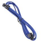 Extension d'alimentation gainée - ATX12V 4 pins - 45 cm (coloris bleu)