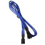 Extension d'alimentation gainée - 3 pins vers 3 pins - 60 cm (coloris bleu)