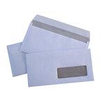 Enveloppes 110 x 220 mm DL 80g Bande protection avec Fenêtre 35 x 100 mm par 500