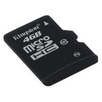 Kingston microSDHC 4 Go - Class 10 (garantie à vie par Kingston)