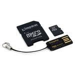 Kingston Mobility-Kit 2 Go - Class 4 - microSD 2 Go + adaptateur SD   lecteur USB (garantie à vie par Kingston)