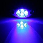 Lamptron Lazer LED bleu (4 LEDs)
