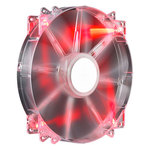Cooler Master MegaFlow 200 Red LED Silent Fan - Ventilateur de boîtier 200 mm LED rouges (coloris transparent)