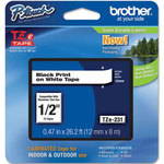 Brother TZE 231 - Ruban 12 mm noir/blanc - 8 m