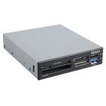 """Akasa AK-ICR-07U3 - Lecteur de cartes mémoire interne + port USB 3.0 pour baie 3"""" 1/2"""
