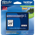 Brother TZE 121 - Ruban 9 mm noir/transparent - 8 m