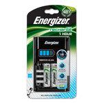 Chargeur de piles AA/AAA ultra-rapide (1 heure) avec indicateur de charge et de batterie défectueuse + 2 piles Energizer Accu Recharge AA 2300 mAh