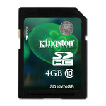 Kingston SDHC 4 Go - Class 10 (garantie 10 ans par Kingston)