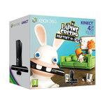 Microsoft Xbox 360 Slim 4 Go Pack Kinect avec Capteur Kinect et le jeu Les Lapins Crétins partent en Live