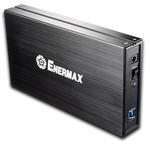 """Boîtier externe aluminium pour disque dur SATA I & II 3.5"""" USB 3.0 (coloris noir)"""