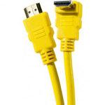 Câble HDMI 1.4 Ethernet Channel Coudé mâle/mâle Jaune - (1.5 mètre)