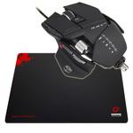 Souris laser ajustable pour gamer  + Tapis de souris pour gamer