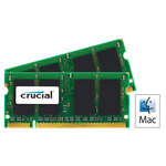 Kit Dual Channel SO-DIMM DDR2 PC5300 - CT2C2G2S667MCEU (garantie à vie par Crucial)